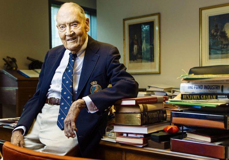 Investor John Bogle is founder of the largest investment company in the world